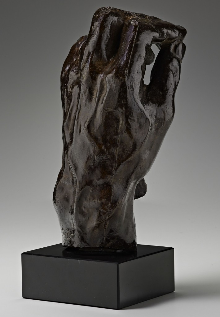 Auguste Rodin, Study for Left Hand of Eustache de St. Pierre, c. 1886. Bronze. Gift of the Iris and B. Gerald Cantor Collection, 1998.359. Courtesy of the Cantor Arts Center.