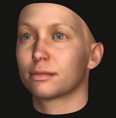 Heather Dewey-Hagborg's forensic DNA phenotype of Chelsea Manning. Courtesy of the Internet.