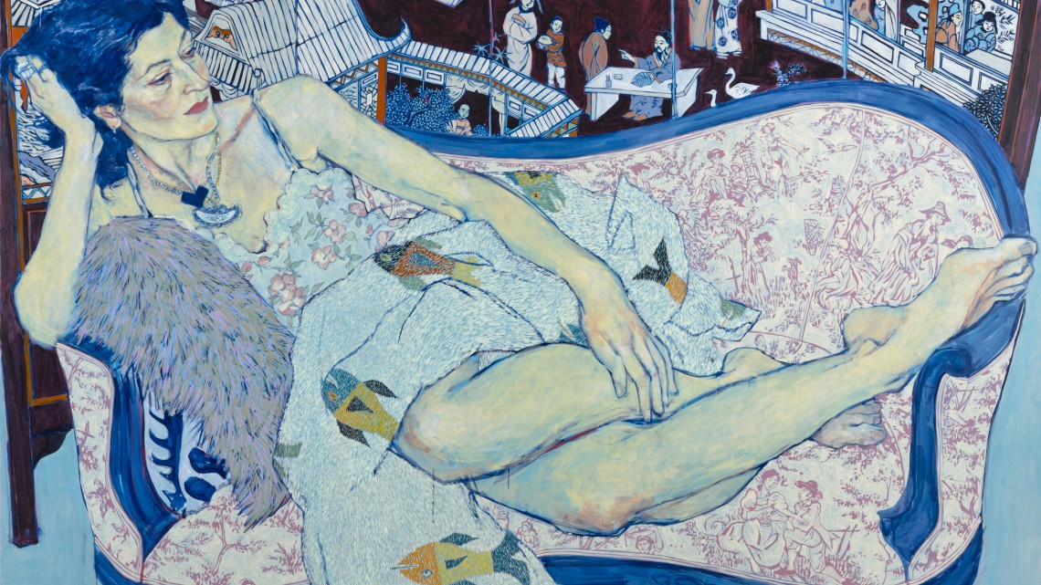 Hope Gangloff, Queen Jane Approximately, 2011. Acrylic on canvas. Private collection. Courtesy of the artist, Susan Inglett Gallery, and the Cantor Arts Center.