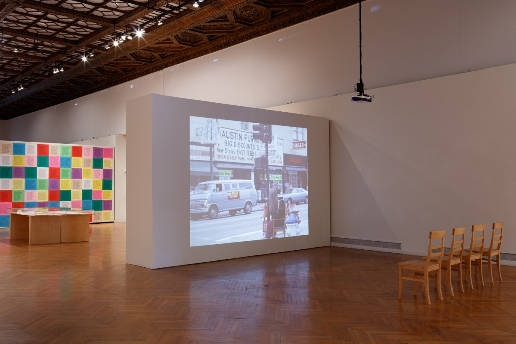 Installation view of Public Works: Artists' Interventions 1970s–Now. Courtesy Mills College Art Museum. Photo: Phil Bond