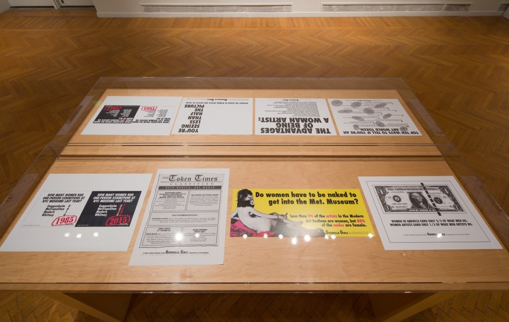Guerrilla Girls, various posters from 1985-present. Collection Mills College Art Museum