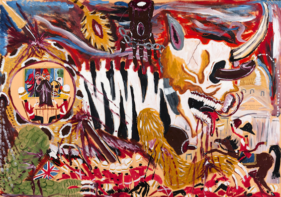 Andrew Gilbert, Africa Destroys Europa, 2013. Mixed media on paper. Courtesy of the artist.