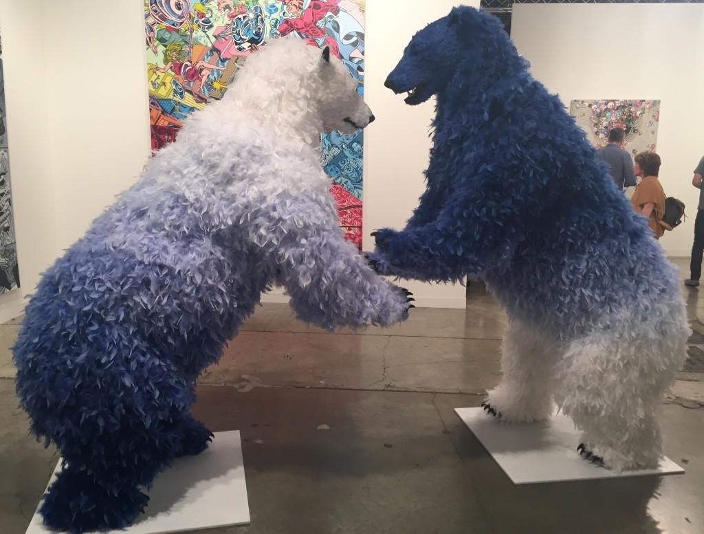 Paola Pivi 'Beautiful Day' (2015) Urethane foam, plastic, feathers Courtesy of Galerie Emmanuel Perrotin, Paris/New York/Hong Kong