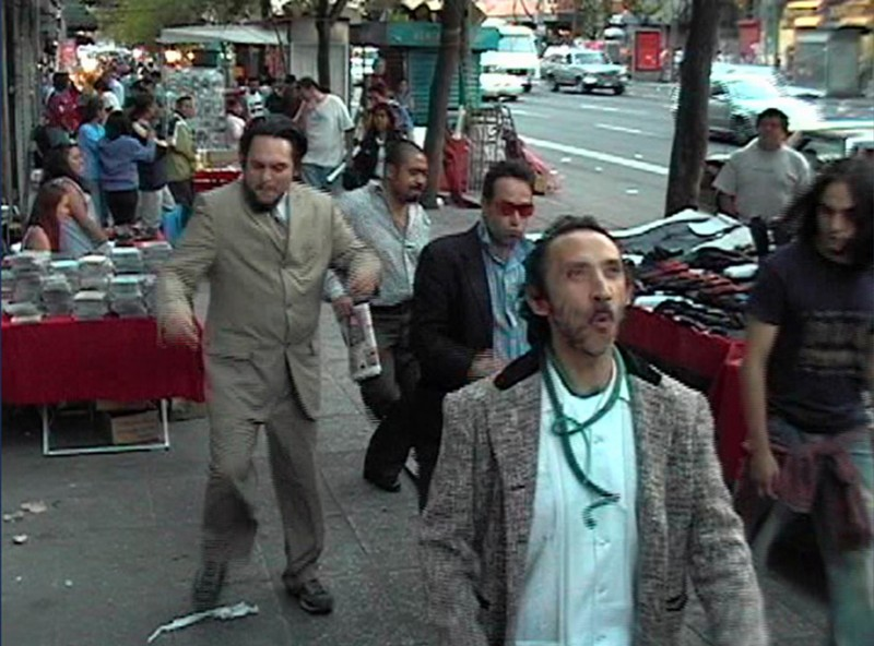 Daniel Guzmán, New York Groove, 2004. Video transferred to DVD 3 min. Courtesy of the artist, kurimanzutto and Jessica Silverman Gallery