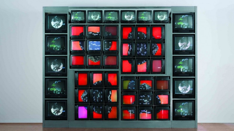 Nam June Paik, Internet Dream, 1994. Video sculpture, 287 x 380 x 80 centimeters. ZKM | Collection © (2008) ZKM | Center for Art and Media Karlsruhe, Photo: Steffen Harms. Courtesy of Whitechapel Gallery.