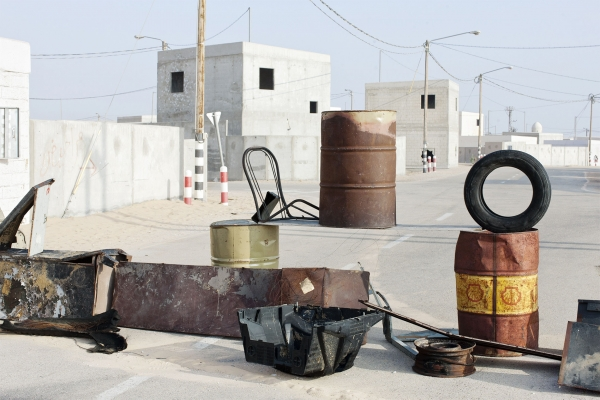 Martin Kollar, Untitled, from the series Field Trip, 2009–11. Color print, 27 1/2 x 41 3/8 inches. Courtesy of the artist and the Brooklyn Museum. This Place, an exhibition with a focus on life in Israel and the West Bank including Martin Kollar and 11 other photographers, opens at the Brooklyn Museum on February 12.