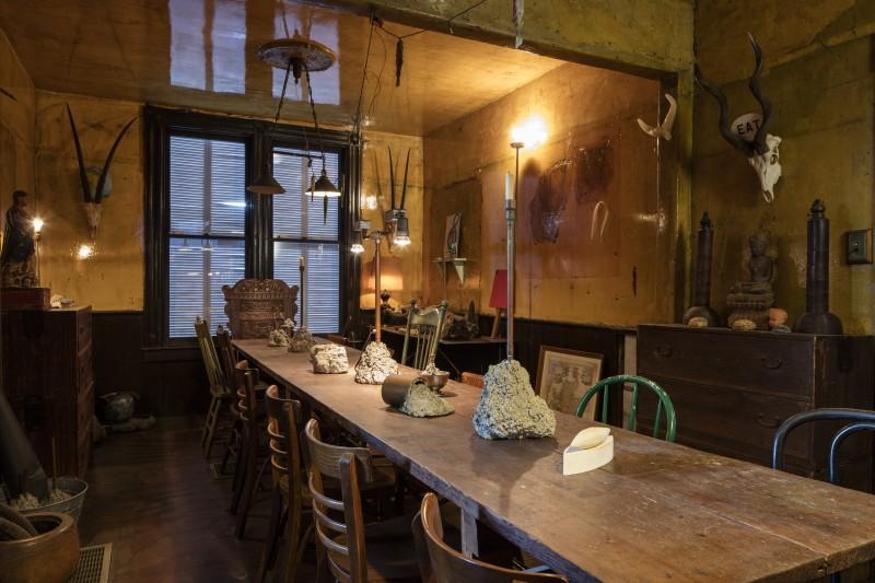 David Ireland House (interior view); downstairs dining room; photo: Henrik Kam, taken November 2015, courtesy 500 Capp Street Foundation