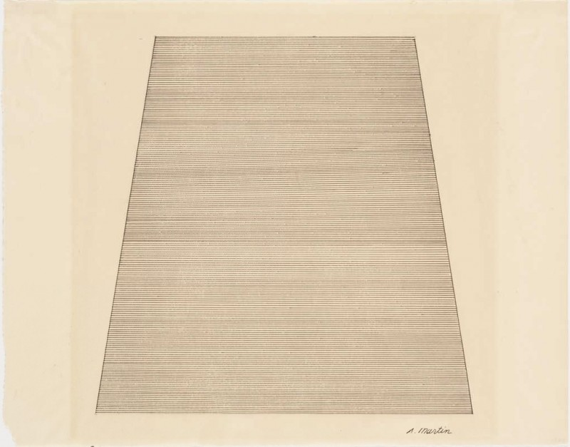 Agnes Martin, Mountain, (1960). Courtesy of MoMA