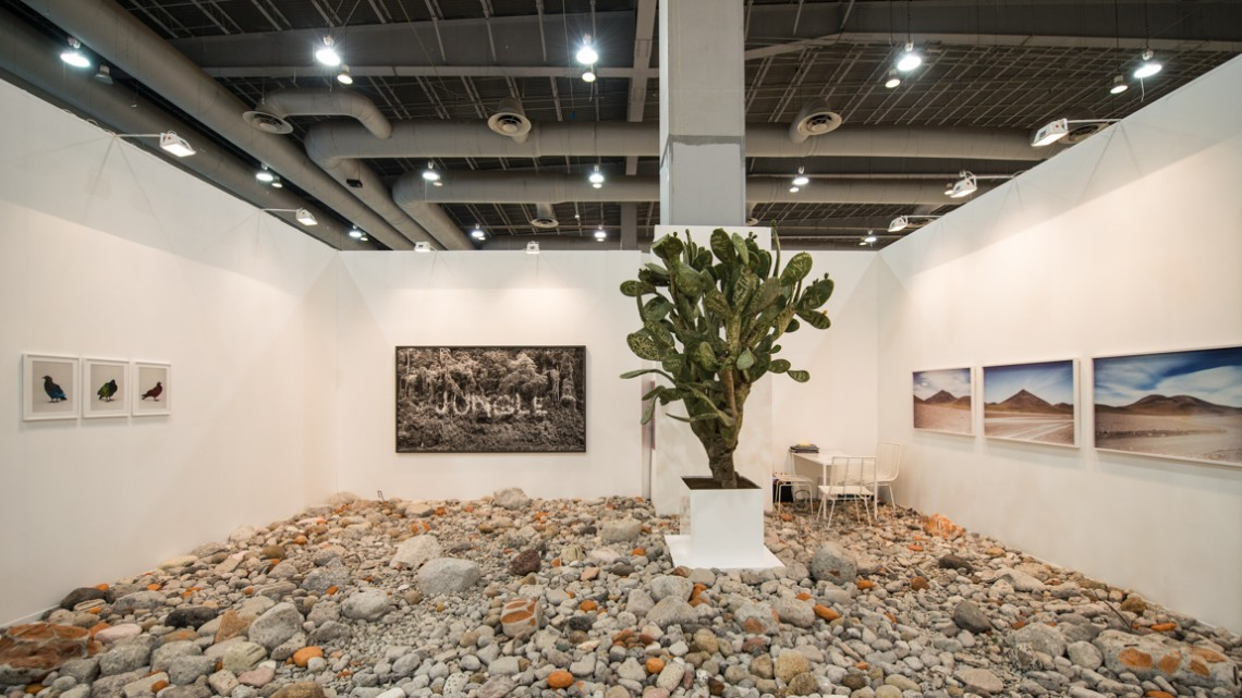 Installation view, Alexander Levy / Dittrich & Schlechtriem in the New Proposals section of ZONA MACO. Courtesy of ZONA MACO.