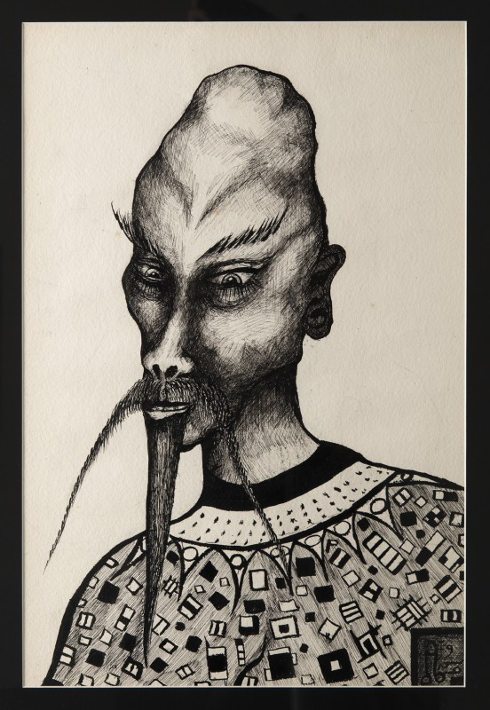 Aleister Crowley, Kwaw (Idealized Self-portrait), 1935. Photo credit: Jean Vong for 80WSE Gallery