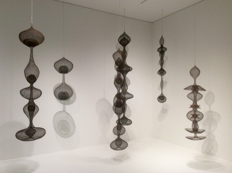 Ruth Asawa, Untitled, Copper/iron wire baskets from private collections, including Snyder Family, Santa Barbara, and Deborah and Andy Rappaport, San Francisco. Photo credit: John Held, Jr.