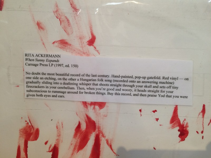 Rita Ackermann vinyl cover, detail.