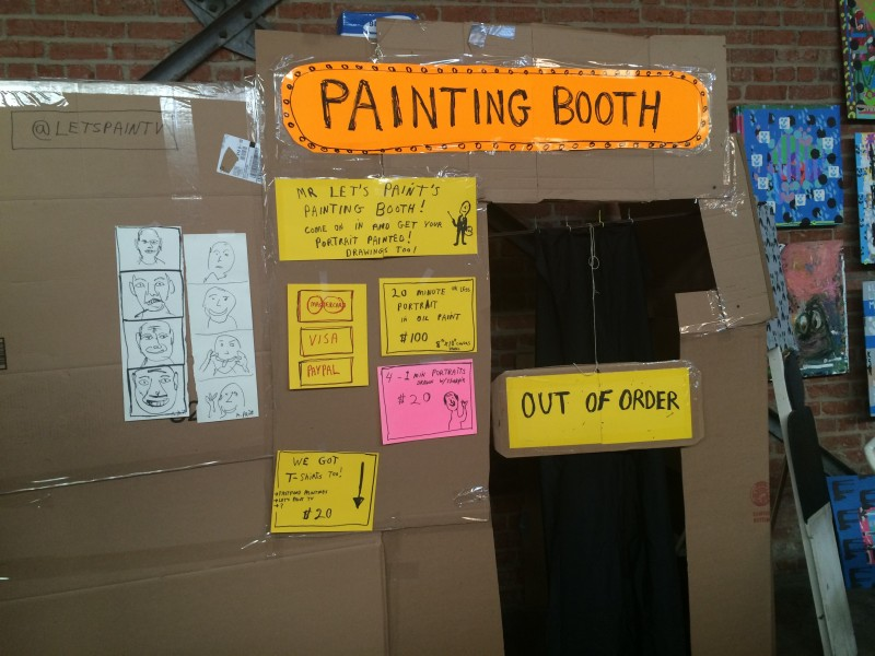 Closed booth by Mr. Let's Paint at Rob Pruitt's Flea Market