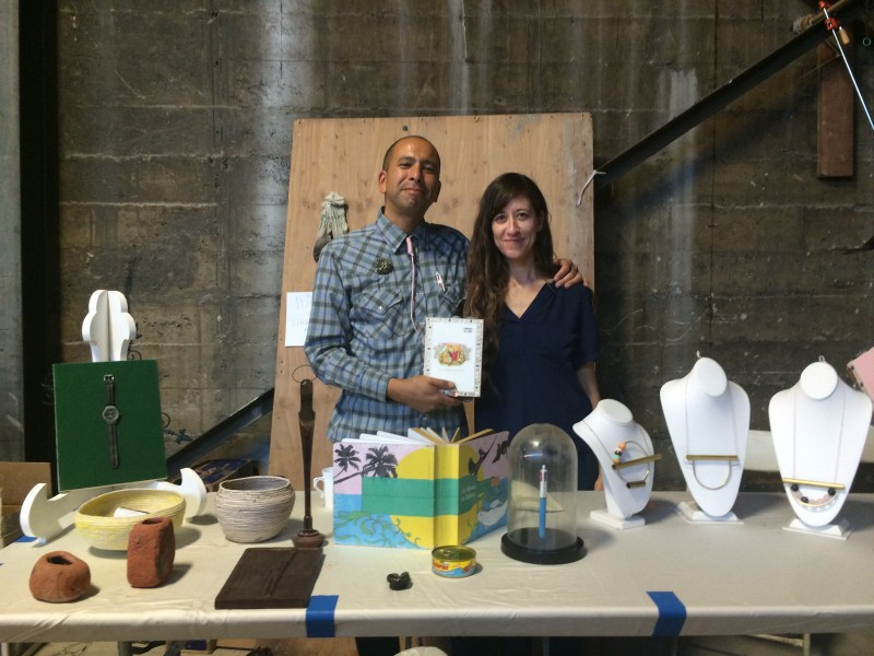 Booth by Scoli Acosta and Alison O'Daniels at the Flea Market