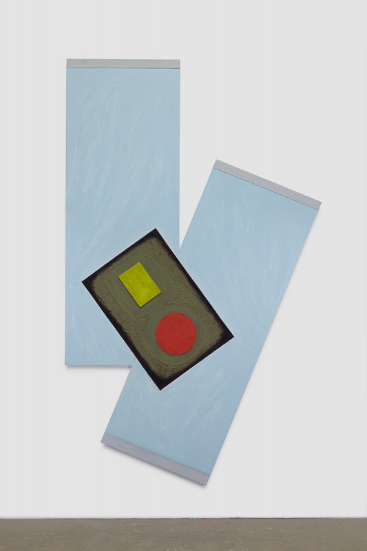 Noam Rappaport, Dogleg, 2015. Oil, acrylic, high-density foam, paper, canvas, 90 x 55 inches. Courtesy of Ratio 3.