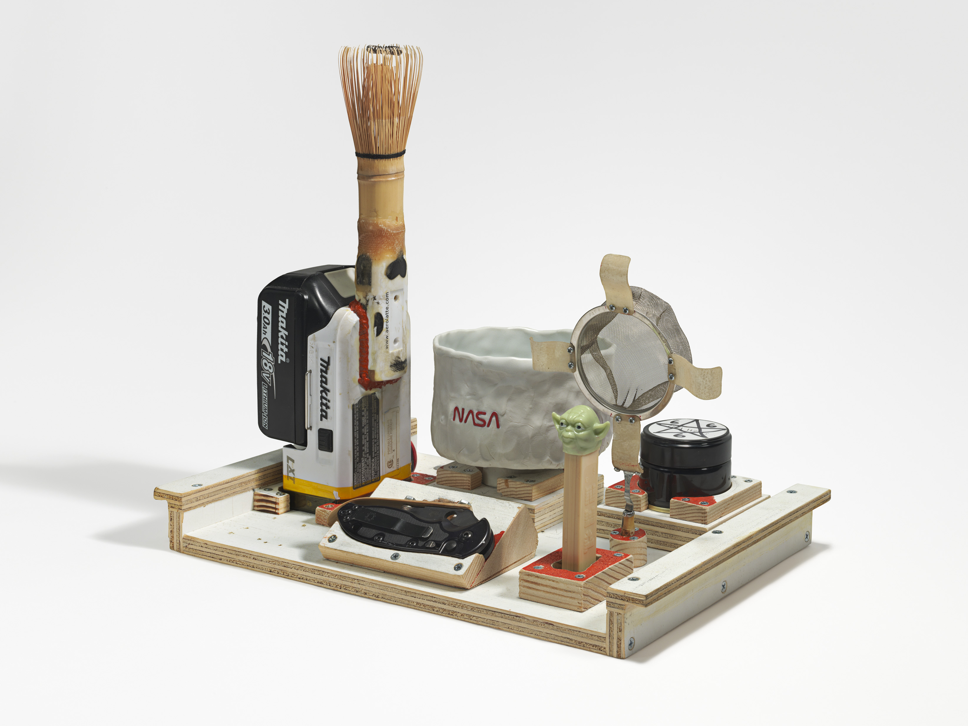 Chabako (tea utensils), 2015. 12.375 H x 14.25 W x 9 D inches.