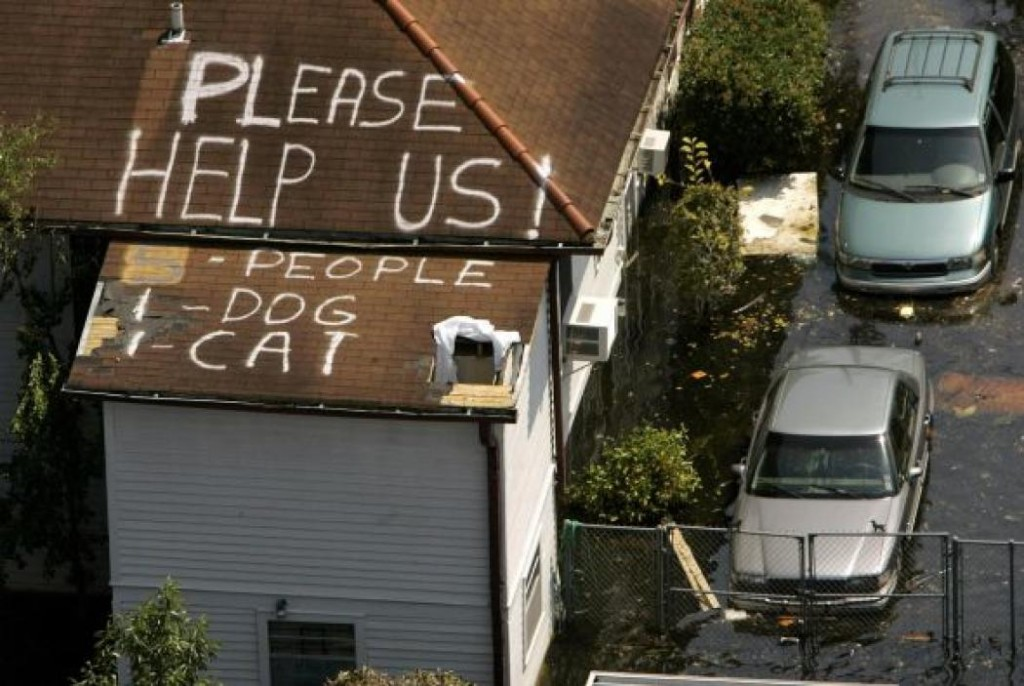 New Orleans After Katrina. Courtesy of the Internet.