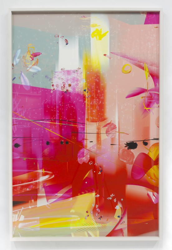 Petra Cortright, KRNKNKSSNBTRGVRGLCH_archive.LZ, 2015. Digital painting on Sunset Hot Press Rag paper. 60 x 40 inches. Courtesy of the artist and Ever Gold [Projects].