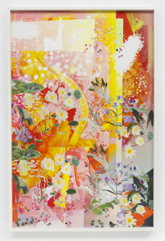 Petra Cortright, TFNNBMRSX_tiles.DFS, 2015. Digital painting on Sunset Hot Press Rag paper. 60 x 40 in. Courtesy of the artist and Ever Gold [Projects].