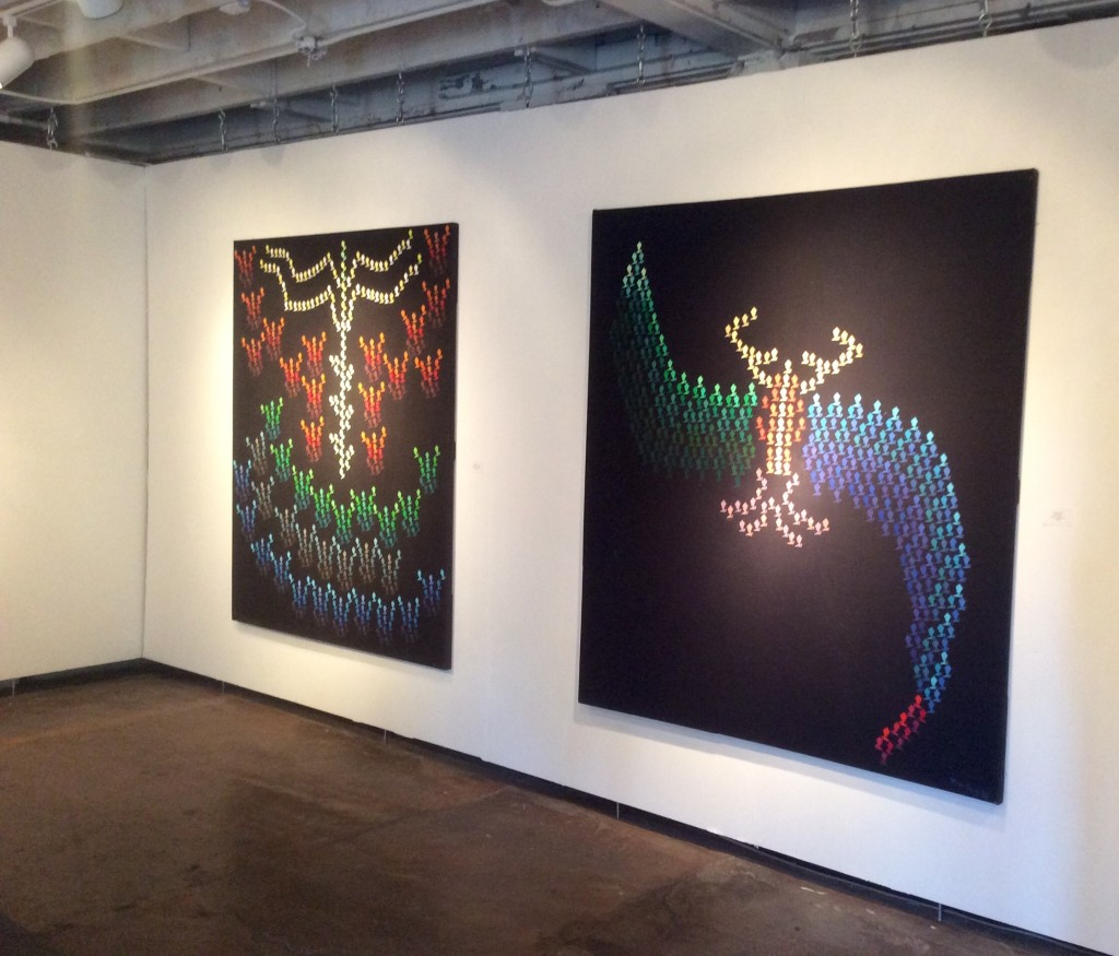 Installation view, Mark Baum at Krowswork, Oakland, CA, January 30-March 6, 2016. Photo credit: John Held, Jr.
