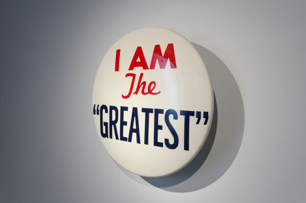 Hank Willis Thomas, I am the Greatest, 2012. Mixed media, 331/2 inches in diameter. Photo by Jeff Warrin. Courtesy of the artist and Kadist Art Foundation.