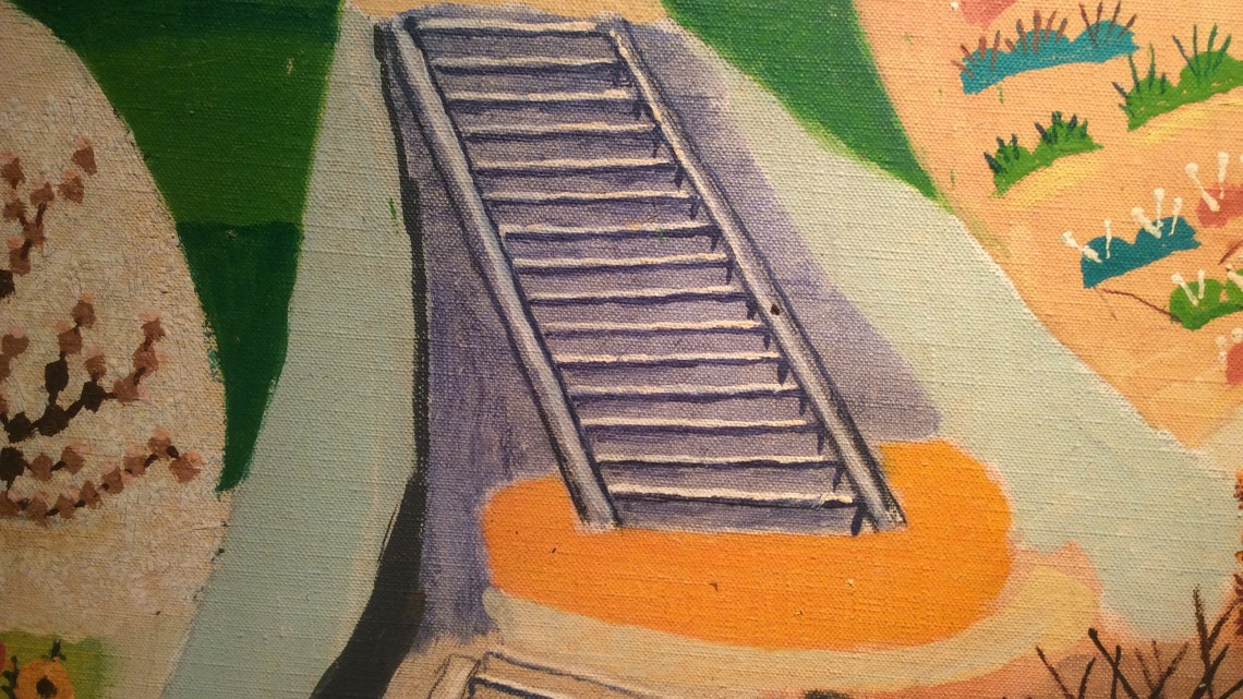 Mark Baum, Stairs and Garden(detail), 1949. Oil on canvas. Photo credit: John Held, Jr.