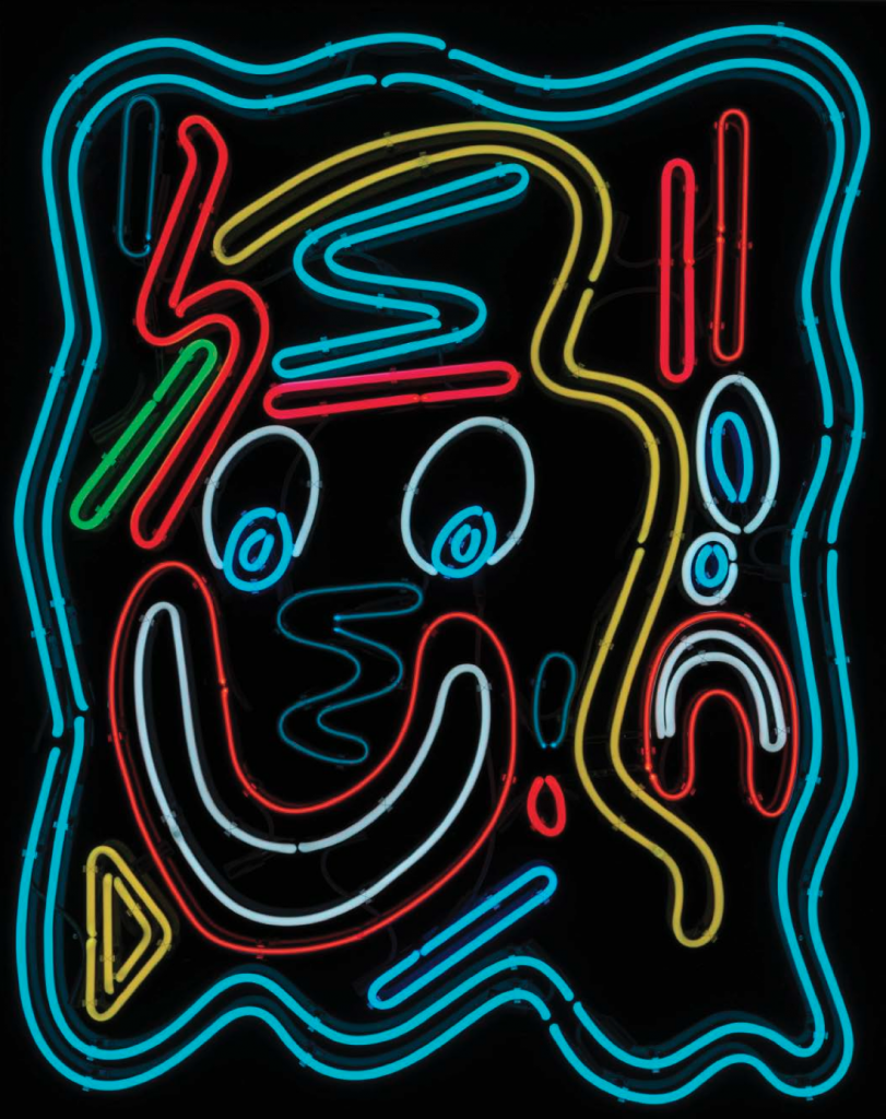 Black neon abstraction (nigga you crazy) #2, 2015. Neon, 59.5 x 47.5 x 5.5 inches. Courtesy of the artist and Richard Heller Gallery.