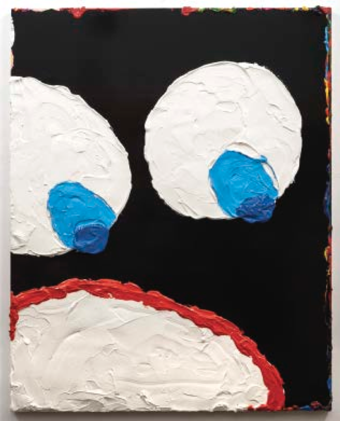 The big face nigga part 1, 2015. Acrylic on panel, 60 x 48 inches. Cour- tesy of the artist and Richard Heller Gallery.