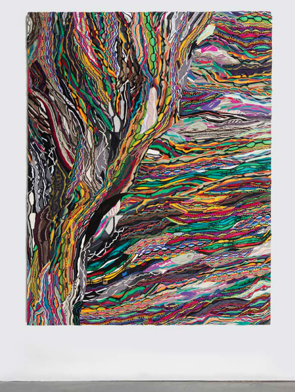 Anticyclonic, 2014. Mercerized cotton stretched on linen. 96 x 75 inches. Courtesy of the artist and Salon 94, New York.