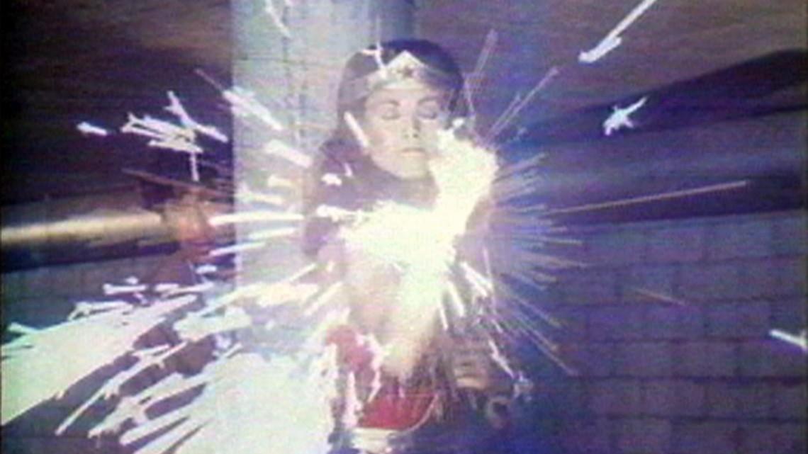 Dara Birnbaum, Technology Transformation/Wonder Woman (video still), 1978-79. Single-channel video, 5 minutes, 50 seconds, Courtesy Electronic Arts Intermix (EAI), New York
