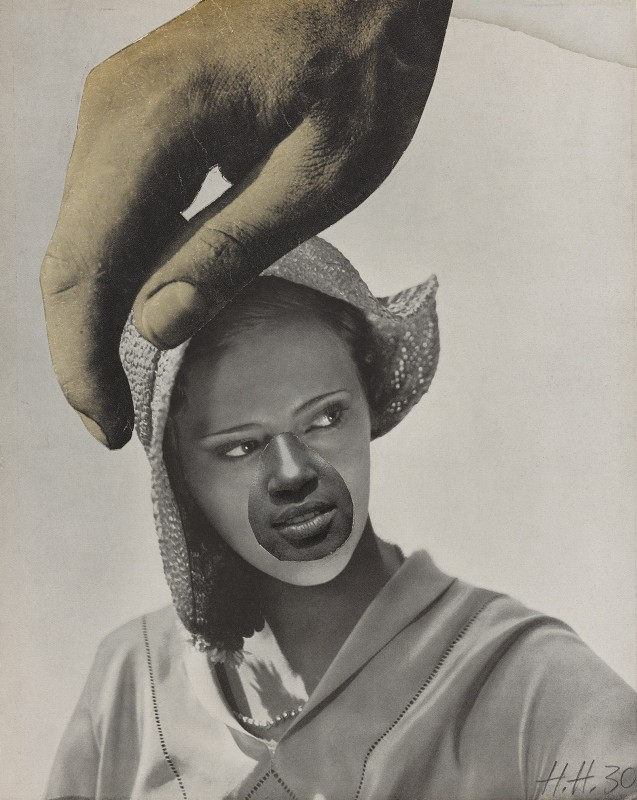 Hannah Höch, Untitled (Large Hand Over Woman's Head), 1930. Photomontage, 25.7 x 20.7 cm, Collection Art Gallery of Ontario, purchase 2012