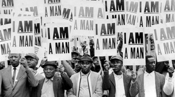 Striking Sanitation Workers, Memphis, 1968, courtesy of the Internet.