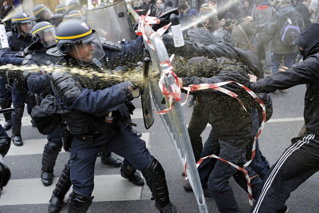 Protesters during the COP21 Summit in Paris, France, 2016. Courtesy of the Internet.