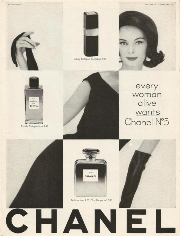 Chanel N. 5 advertisement. Courtesy of the Internet.