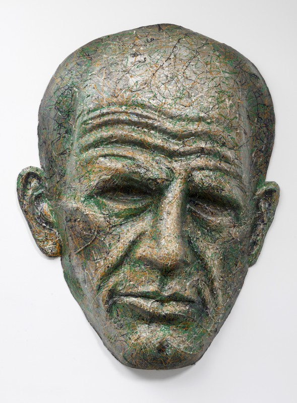 Robert Arneson, Stringhalt J, 1987. Cast paper with paint, 53 x 45 x 12 inches.