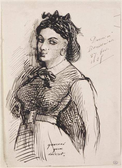 Charles Baudelaire, Portrait of Jeanne Duval, 1850. Courtesy of the Internet.