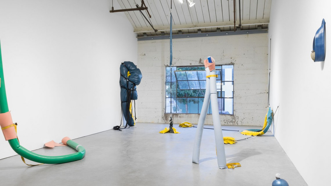 Installation view, Hunker Down, Bass & Reiner Gallery, March 18 - April 23, 2016. Courtesy of the gallery.