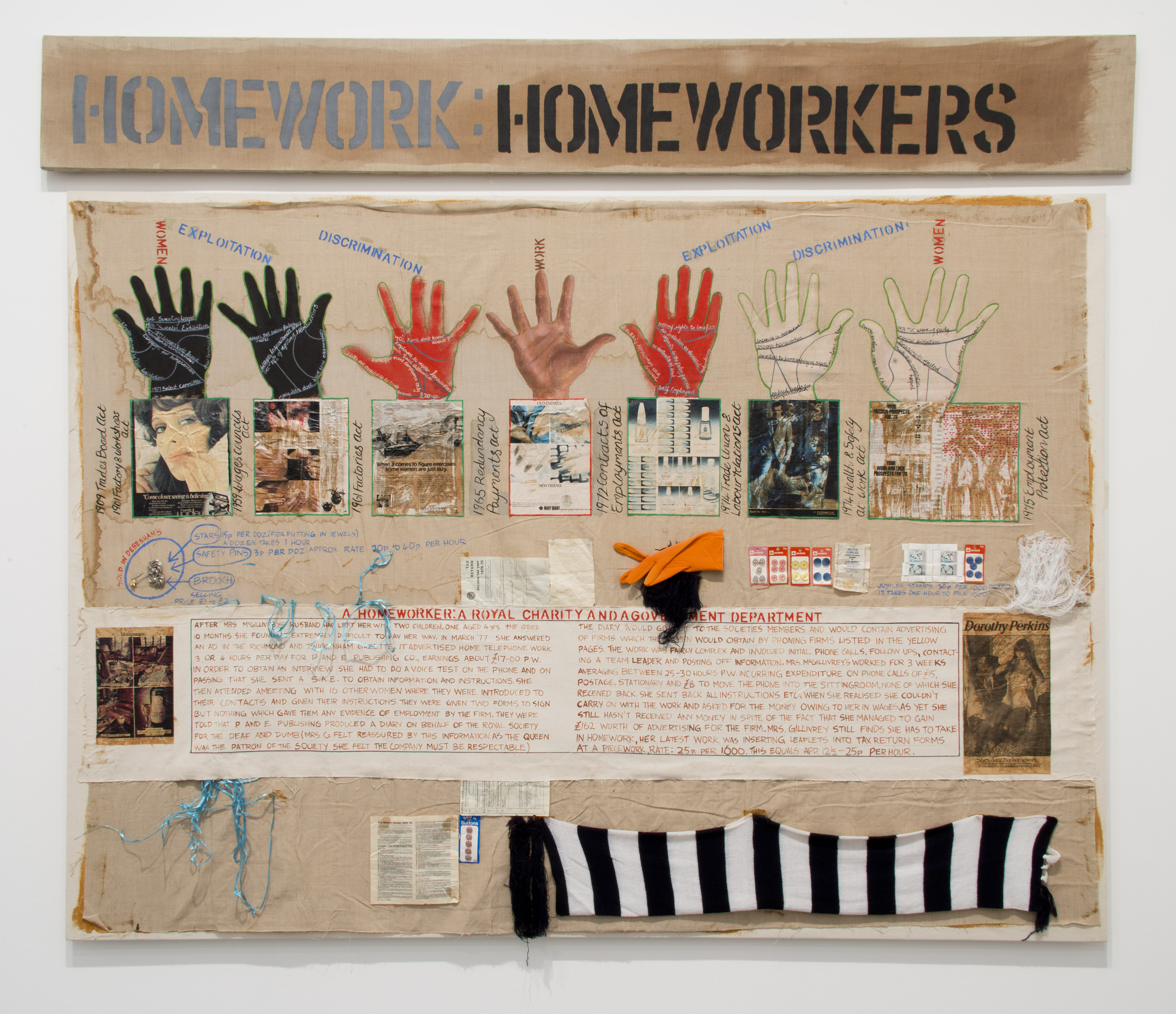 Margaret Harrison, Homeworkers, 1977. Collection of Tate. Purchased 2011.  © Margaret F. Harrison. Courtesy of Tate Britain.