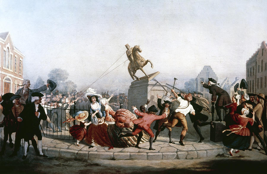 William Walcutt, Pulling down the statue of King George III in New York, 1854. Oil on canvas. Courtesy of the Internet.