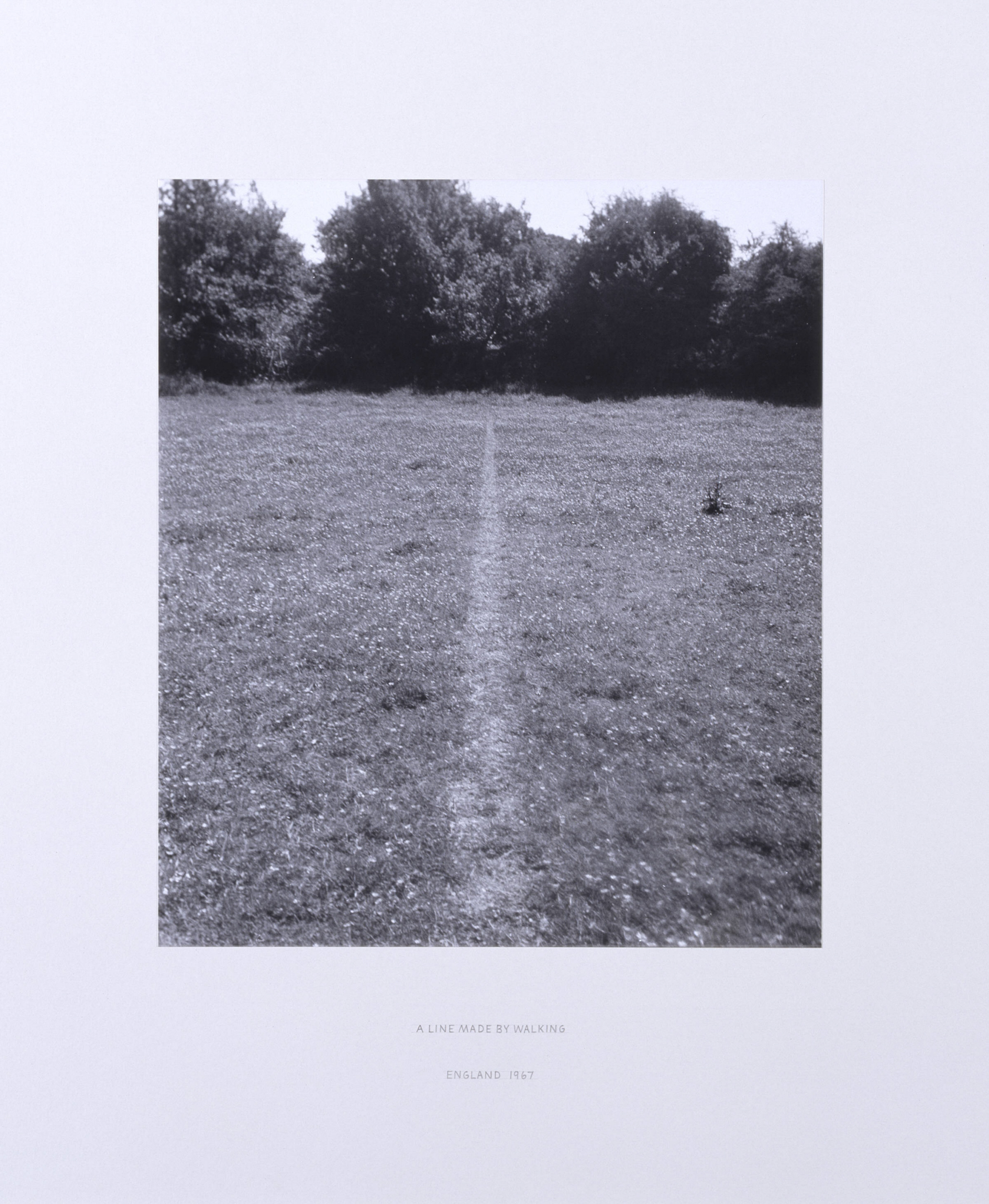 Richard Long, A Line Made by Walking, 1967. Collection of Tate. Purchased 1976. © Richard Long / DACS, London. Courtesy of Tate Britain.