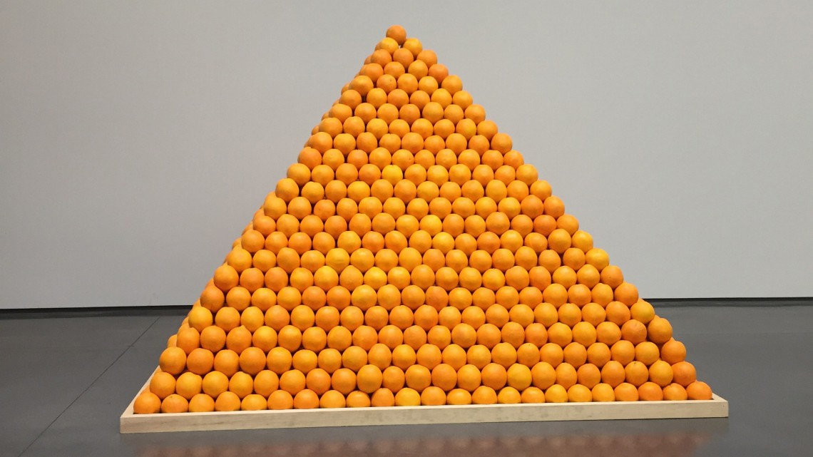 Roelof Louw, Soul City (Pyramid of Oranges), 1967. Collection of Tate. Presented by Tate Patrons 2013. © Roelof Louw Image courtesy of Aspen Art Museum, 2015. Courtesy of Tate Britain.