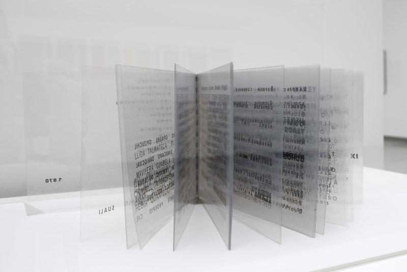 Isidoro Valcárcel Medina, El Libro transparente, 1970 Tranparent plastic sheets Courtesy the artist