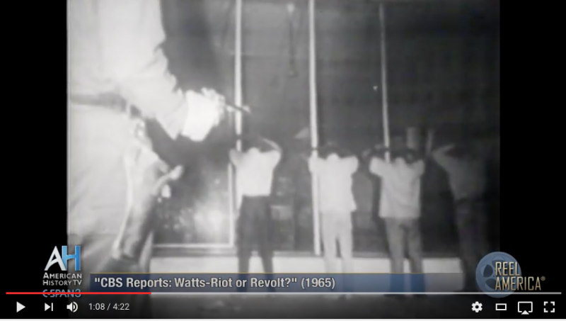 Still from CBS: Watts Riot of Revolt (1965). Courtesy the Internet