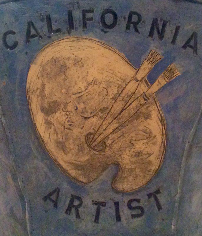 Robert Arenson, California Artist (detail, rear view), 1982. Stoneware with glazes. Photo: John Held, Jr.