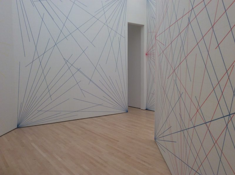 Sol LeWitt, Wall Drawing 273 (detail), September 1975. Graphite and crayon on seven walls. (Photo: John Held, Jr.)