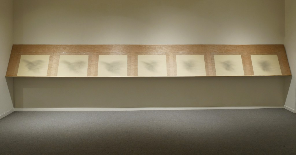 Tom Marioni, 7 Drum Brush Drawings, 1977. Courtesy of Anglim Gilbert Gallery.