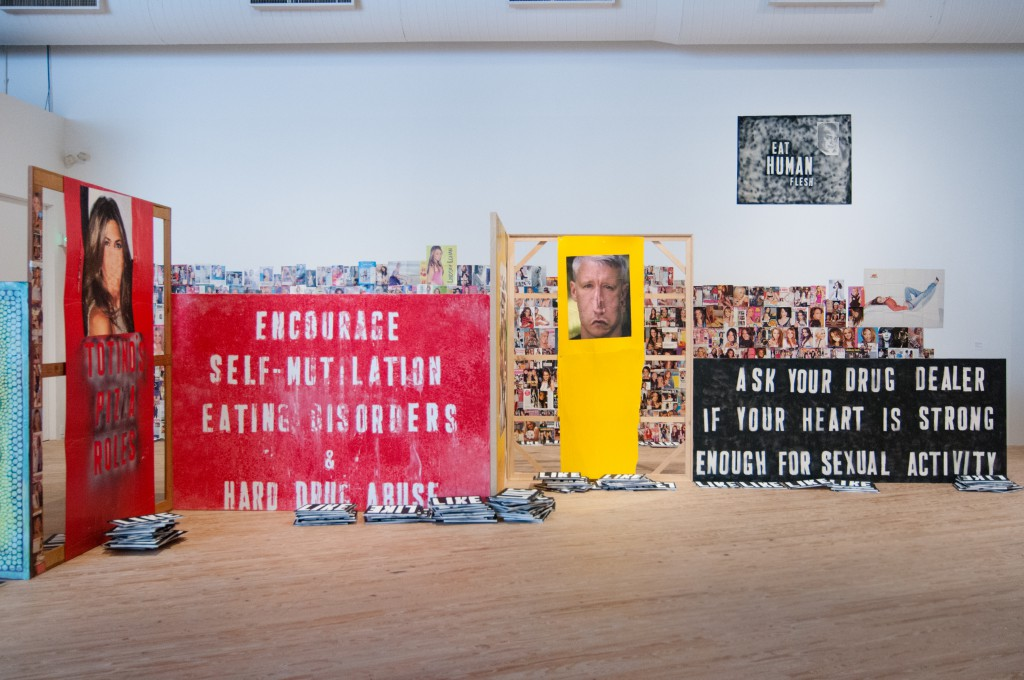 Installation view, Gratest Hits, Mark Flood at the Contemporary Arts Museum Houston. Courtesy of the artist and the Contemporary Arts Museum Houston.