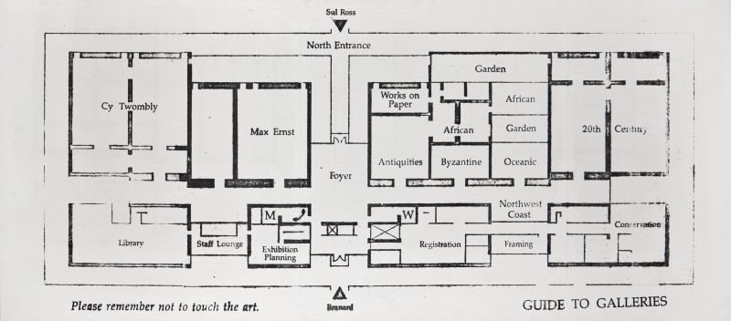 Mark Flood, Menil Collection Floorplan, 1992. Acrylic on canvas, 26.5 x 60 inches. Private collection. Courtesy of the artist and the Contemporary Arts Museums Houston.