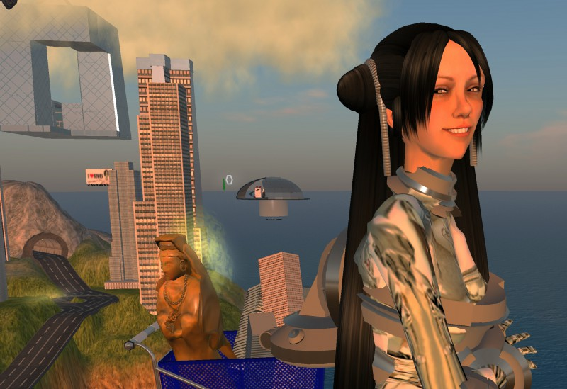 Cao Fei (SL avatar: China Tracy), RMB City: A Second Life City Planning. 2007-2011. Video, 6'. Courtesy of artist and Vitamin Creative Space