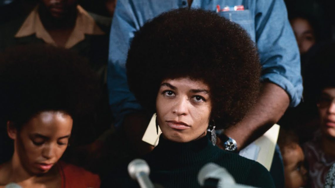 San Jose, Calif.: Angela Davis, militant on trial for alleged activities in connection with Marin County Court shootout, attends her first news conference since being released on bail, February 24th, 1972. © Bettmann/CORBIS.